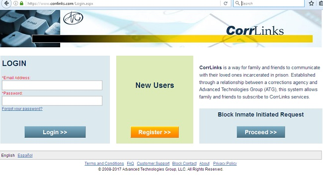 corrlinks login