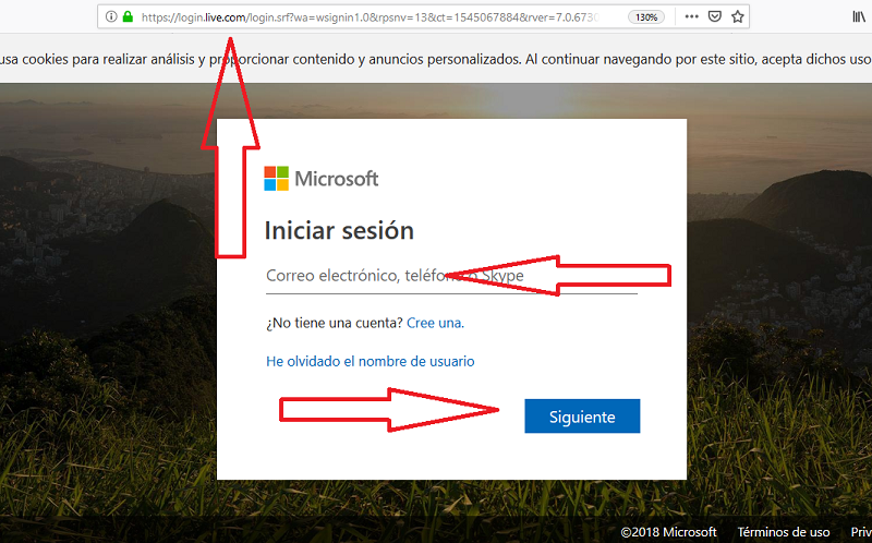 hotmail iniciar session